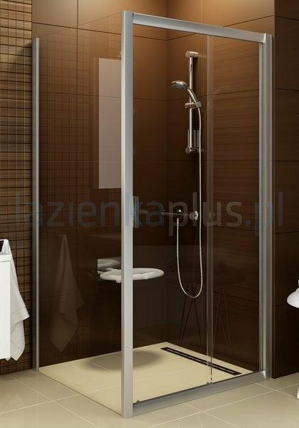 Ravak Blix BLPS-90 ścianka prysznicowa stała polerowane aluminium + grafit 9BH70