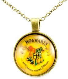 JewelsHall Harry Potter naszyjnik - herb Hogwart - cabochon