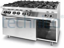Hendi Kuchnia 6-palnikowa z piekarnikiem elektrycznym GN 1/1 | , Kitchen Line HEN