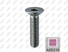 UMAKOV Śruba wpuszczana 5x16 AISI 316 AISI316, M5x16 A4-DIN 7991 M5x16