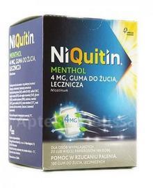 GlaxoSmithKline NIQUITIN MENTHOL Guma do żucia 4 mg 100 szt.