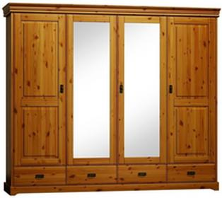 Meble ZychSzafa 4d sosnowa Toskania do sypialni PL8018