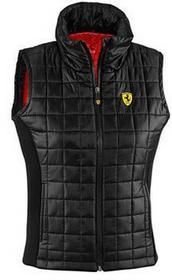 Ferrari F1Kamizelka Ferrari Women Quilted Padded Vest - Black