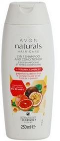 Avon Naturals Hair Care szampon z odżywką 2 w1 Grapefruit And Passion Fruit 250