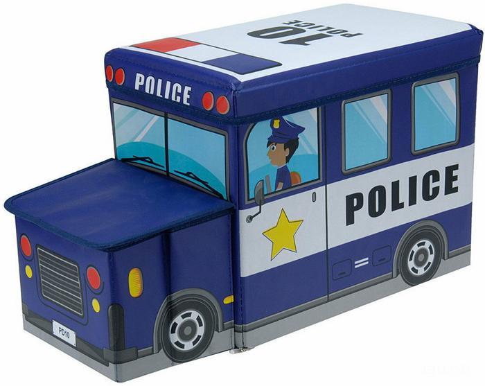 Pojemnik na zabawki - skrzynia, siedzisko - policja 529000290-policja