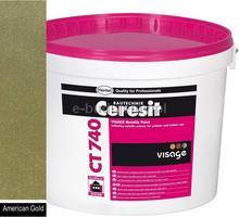 Ceresit CT 740 VISAGE Farba ozdobna Metallic 4L - American gold
