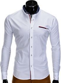 Ombre Clothing Koszula K304 - BIAŁA