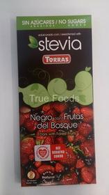 Torras Czekolada gorzka z owocami leśnymi ze stewią 125g