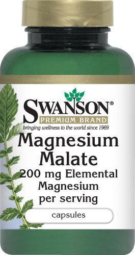 SWANSON Jabłczan (malat) magnezu 200mg 60 szt.