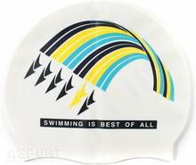 Spurt Czepek pływacki, silikonowy, uniwersalny 617 F212 WHITE 11-3-058/ 617 F212