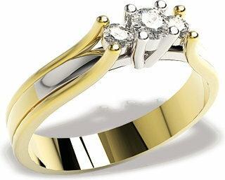 WĘC-Twój Jubiler Pierścionek złoto z brylantami LP-44ZB, 0,24 ct H/Si
