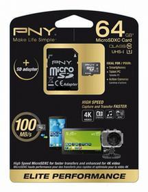 PNY MicroSDXC UHS-1 Class 10 Elite Performance 64GB