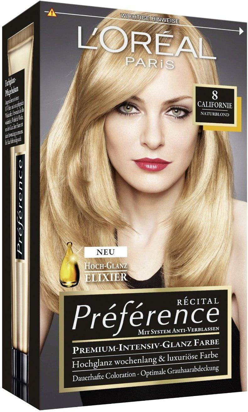 Loreal Recital Preference X3 8.0 Californie jasny blond