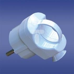 Elektro-Plast Opatówek Wtyczka kątowa rozbieralna z uchwytem z/u unischuko 16A 2P AWA-WS biała 51.50 Opatówek 0004-00010-08906
