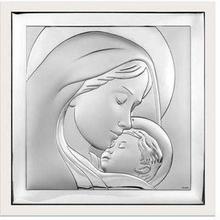 Beltrami Obrazek Matka Boska w białej oprawie- (BC#6436W)