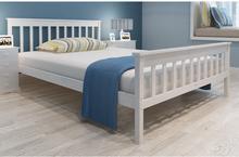 vidaXL Białe, sosnowe łóżko 200 x 140 cm