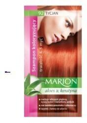 Marion Aloes & Keratyna 4-8 myć szampon koloryzujący w saszetce 92 Tycjan 40ml
