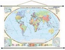 Meridian Świat polityczny 100 x 70 cm - tablica ścienna