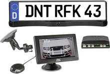 dnt System kamery cofania w uchwycie tablicy rejestracyjnej dnt RFK Integro 4.3 Linie wskazujące dystans Czujniki parkowania