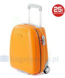 Puccini Bardzo mała walizka BARCELONA ABS01D 9 Pomarańczowa - pomarańczowy