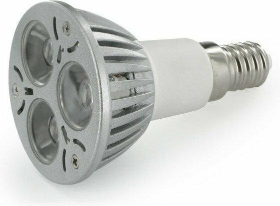 Whitenergy żarówka 3 x POWER LED | E14 | 3W | 230V | barwa ciepła biała 3000k | reflektor