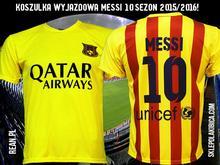 koszulka WYJAZDOWA BARCELONA MESSI 10 2015/2016!
