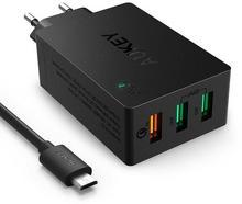 Aukey PA-T2 ultraszybka ładowarka sieciowa 3xUSB Quick Charge 2.0 6.8A 42W AZAUKULPAT20000