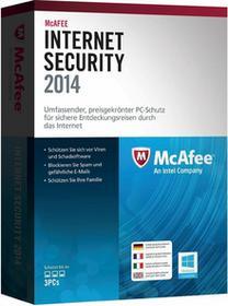 McAfee Internet Security 2014 (3 stan. / 1 rok) - Nowa licencja
