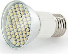 Whitenergy Żarówka LED Reflektor 60xSMD 3528 3W E27 230V chłodna barwa 05092