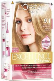 Loreal Excellence Creme 9.1 Bardzo jasny blond popielaty