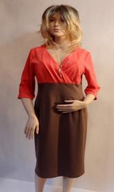 MaximoModa Elegancka sukienka podkreślająca biust XXL RO0010