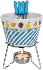 Excellent Houseware EH Ceramiczny zestaw do czekoladowego fondue dla 4 osób 8718158648020-niebieski