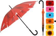 Parasol manualny FLOWER, Parasolka - 105 cm - pomarańczowy