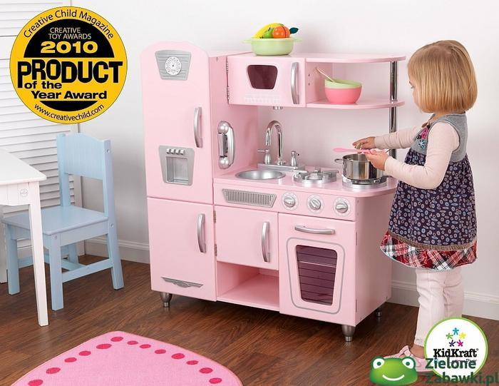 Kidkraft Kuchnia Drewniana Rozowy Vintage Kuchnie Dla Dzieci