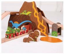 Bigjigs Toys Drewniana Kolejka - Dinozaury BJT035