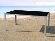 Beliani Elegancki stól aluminiowy, meble ogrodowe CATANIA czarny