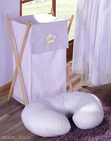 Mamo-Tato Kosz na bieliznę Miś z serduszkiem w fiolecie