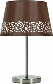 Candellux Abażurowa LAMPA stołowa KASZMIR 41-21168 Brązowy