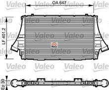 VALEO Chłodnica powietrza doładowującego - intercooler 817998