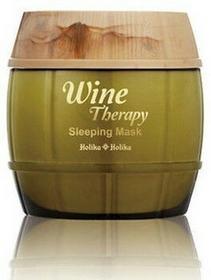Holika Wine Therapy Sleeping Mask White Wine Całonocna maska rozjaśniająca do twarzy z ekstraktem z białego wina 120ml 8806334338558