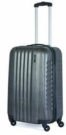 March Średnia walizka 0044-27-63 czarno-szary RIBBON