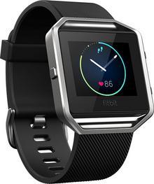 Fitbit Blaze zegarek z funkcją monitorowania aktywności, czarny, S