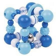 Heimess GOKI Grzechotka niebieska dla niemowląt, grzechotka sześcian, 0m + GOKI-