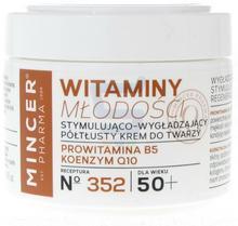 Mincer Pharma  Witaminy Młodości 50+ Stymulująco - wygładzający półtłusty krem do twarzy 50 ml