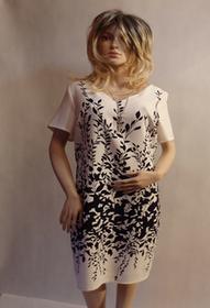 MaximoModa Elegancka sukienka biało czarna XXXXL RO0031