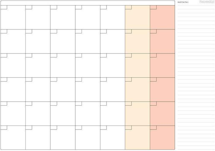 planowaki pl planer ścienny miesięczny uniwersalny 84x119cm a0
