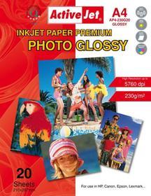 ActiveJet AP4-230G20 papier fotograficzny błyszczący A4 20szt 230g