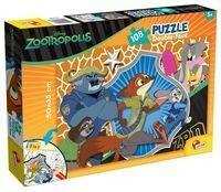 Lisciani Puzzle Dwustronne Zwierzogród 108 -
