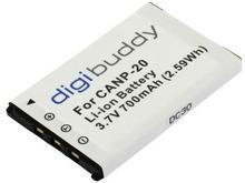 Benq digibuddy Bateria 700mAh Casio NP-20 Exilim EX-M1 EX-M2 EX-M20 EX-S1 EX-S2 EX-S3 EX-S20 EX-S100 EX-S500 EX-S600 EX-S600D EX-S770 EX-S770D EX-S880 EX-Z3