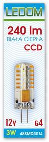 Ledom Żarówka LED 48 SMD3014 G4 12V 3W 244520